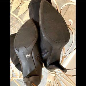 NINE WEST Shoes - NINE WEST Black Leather Stiletto Hug Me Boots